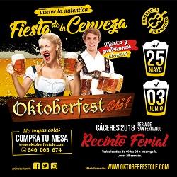 Oktberfest olé Cáceres 2018 planVE